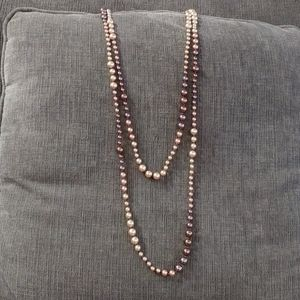 Cookie Lee long pearl necklace